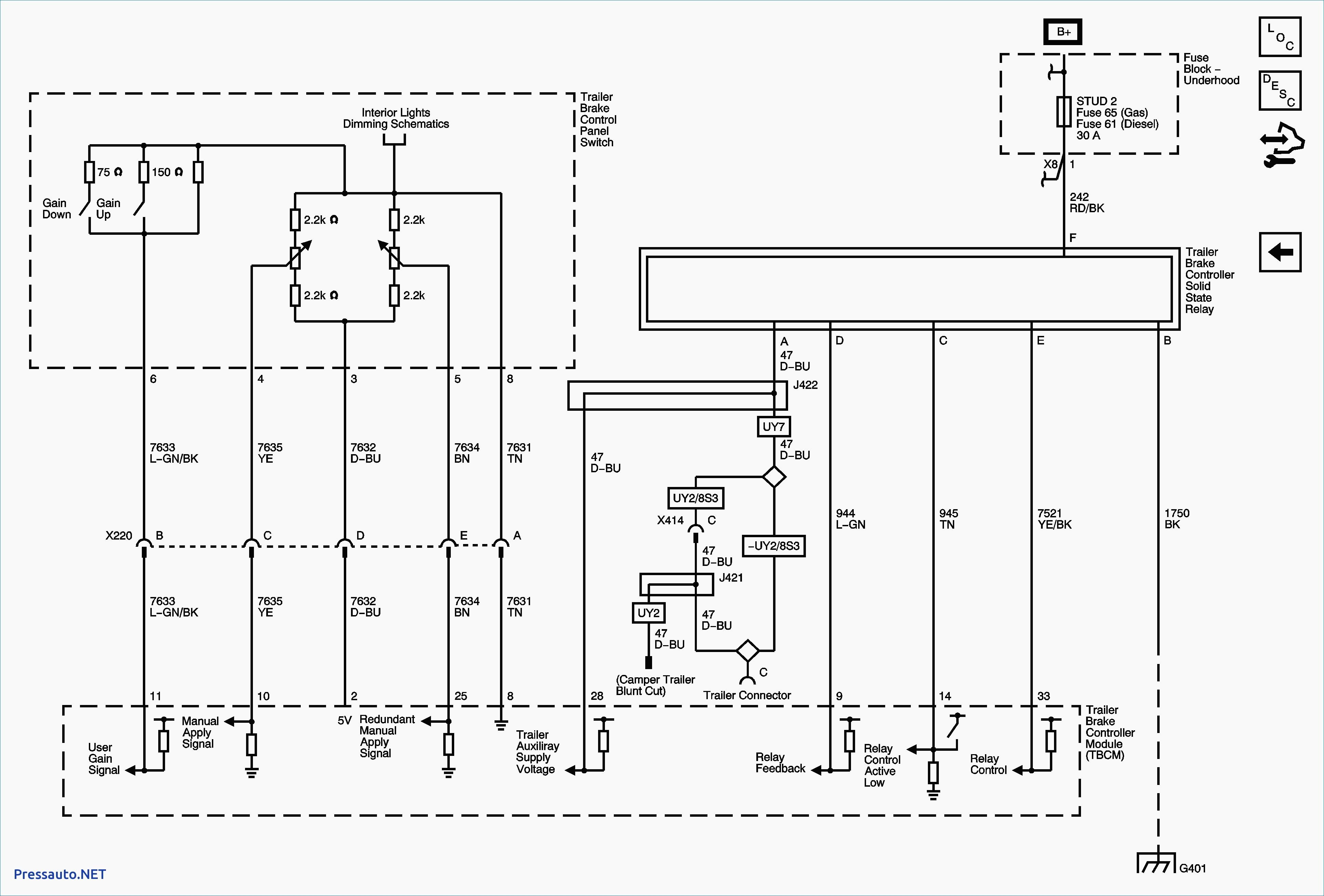Tekonsha Voyager Generic Wiring Diagram In Trailer Brake Throughout Controller