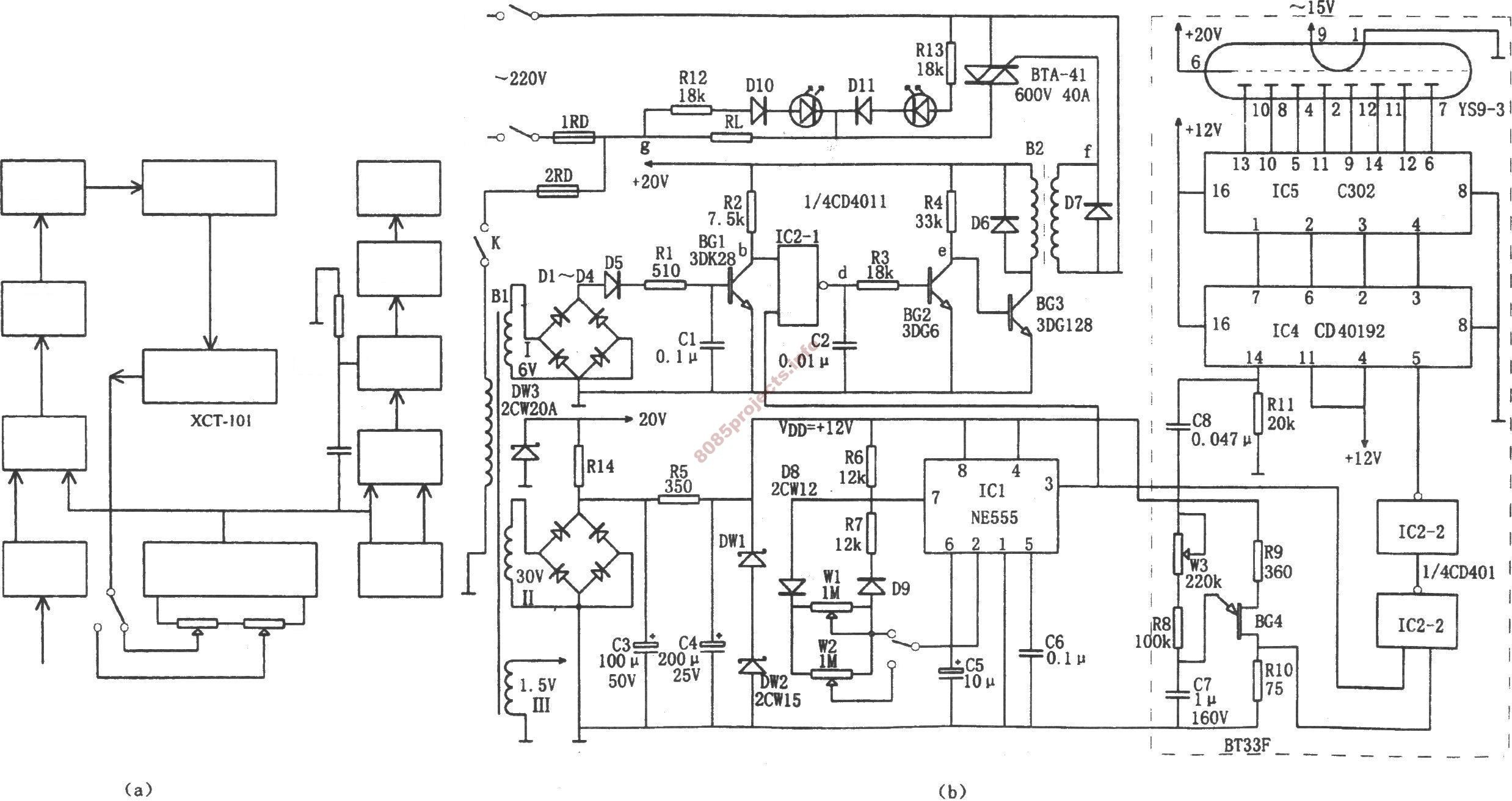 Free Electronic Circuits Projects Blog Archive Single Phase Electric Furnace Temperature Control With Scr Zero Trigger