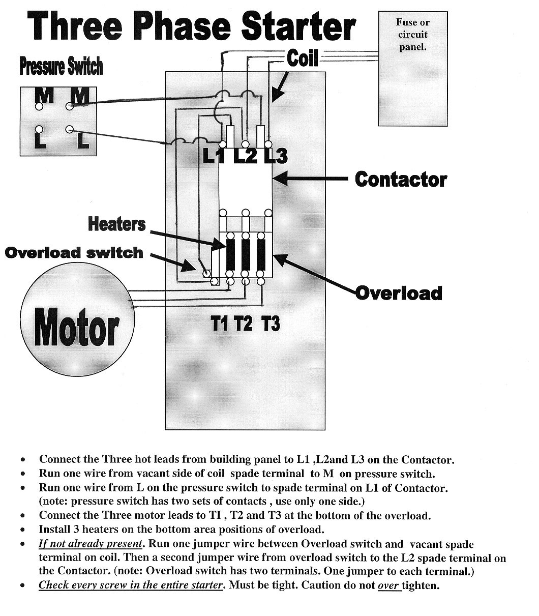 Square D Starters For Three Phase Electric Motor Wiring Diagram