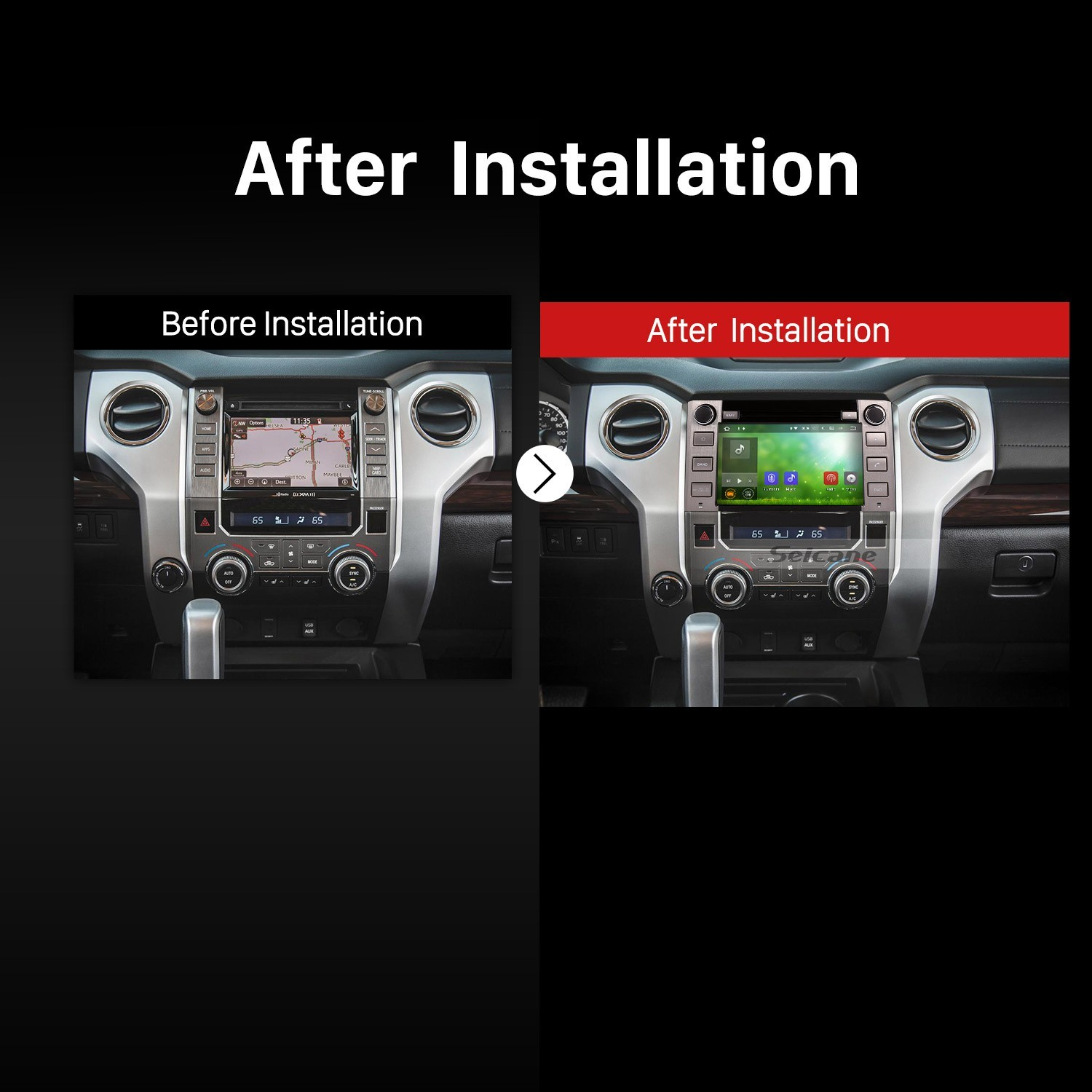 OEM Android 6 0 2014 2015 2016 Toyota Tundra with Aftermarket GPS Navigation DVD Player Car Stereo