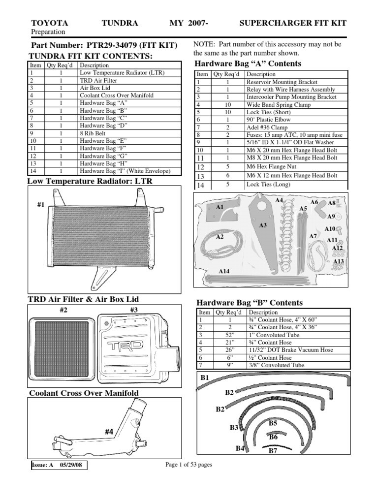 TRD Tundra Supercharger Installation Instructions Throttle