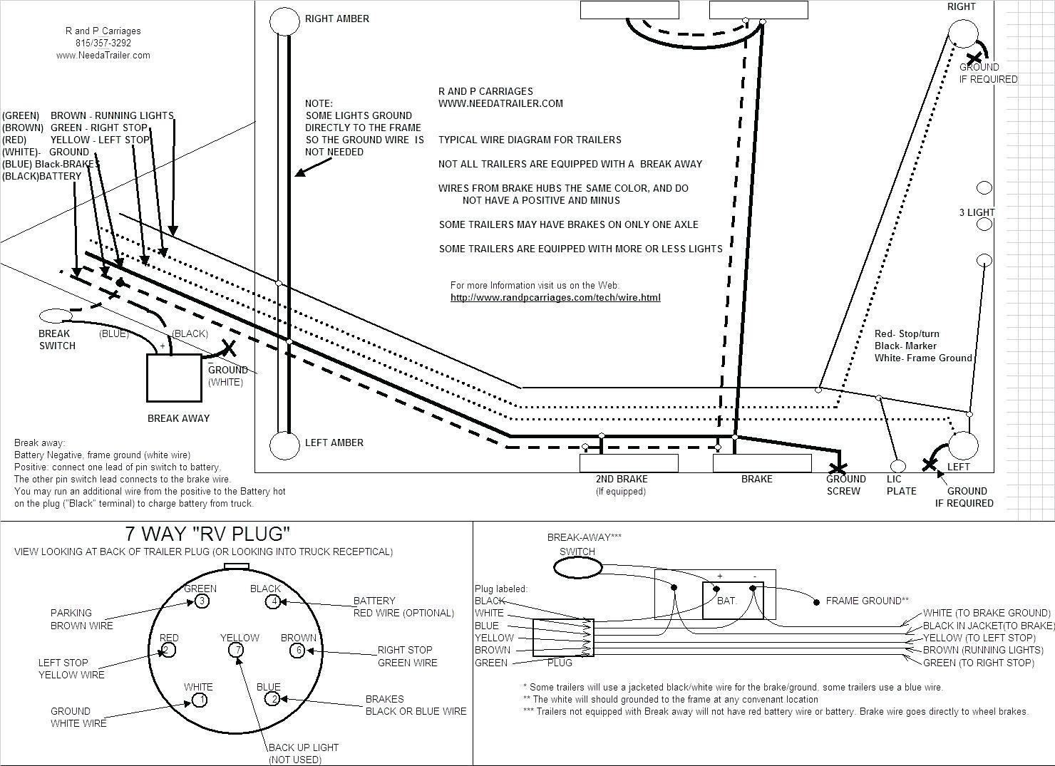 Trailer Lights Wiring Diagram 4 Wire : Trailer light wiring diagram way new image