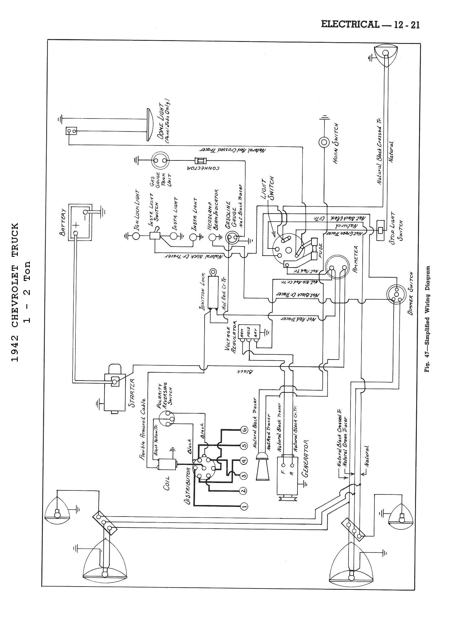 1942 Body Wiring Diagram · 1942 4x2 Truck Wiring