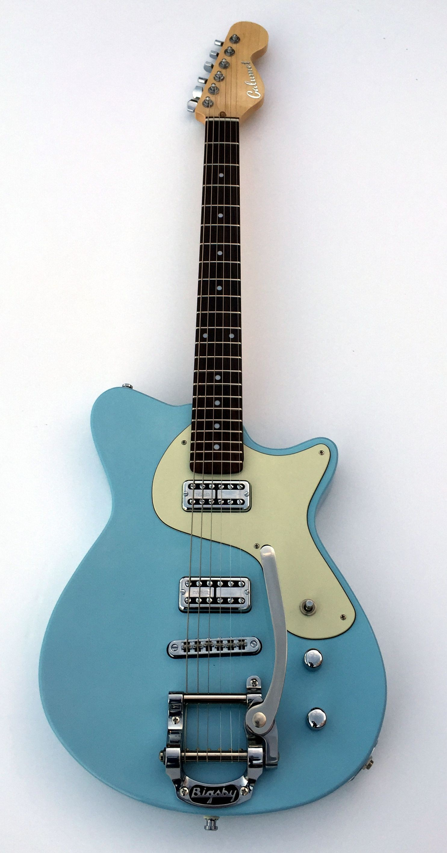 Nassau Blue Calumet Stronzetta with mint pickguard TV Jones Pickups Sperzel Trim Lok