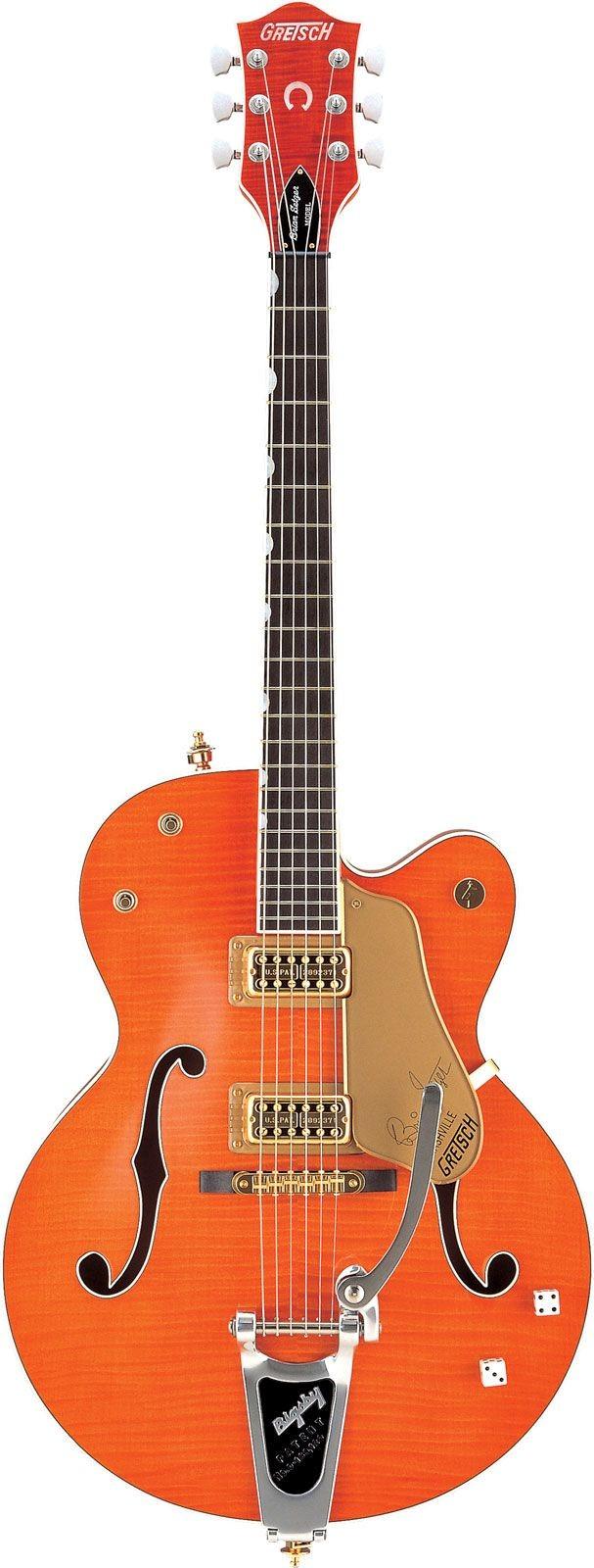 Gretsch G6120 SSU Brian Setzer Orange Tiger Flame