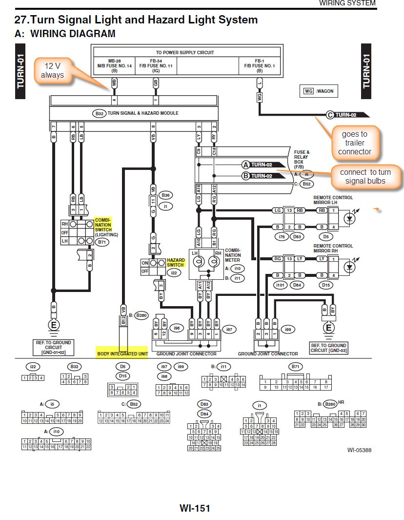 subaruoutback org Turn Signal Flasher Wiring Diagram click image for larger version name turn signals