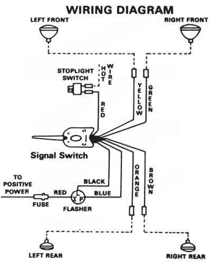 6 wire turn signal switch wiring schematic example electrical rh olkha co 1950 ford turn signal wiring diagram 2002 ford f150 turn signal wiring diagram