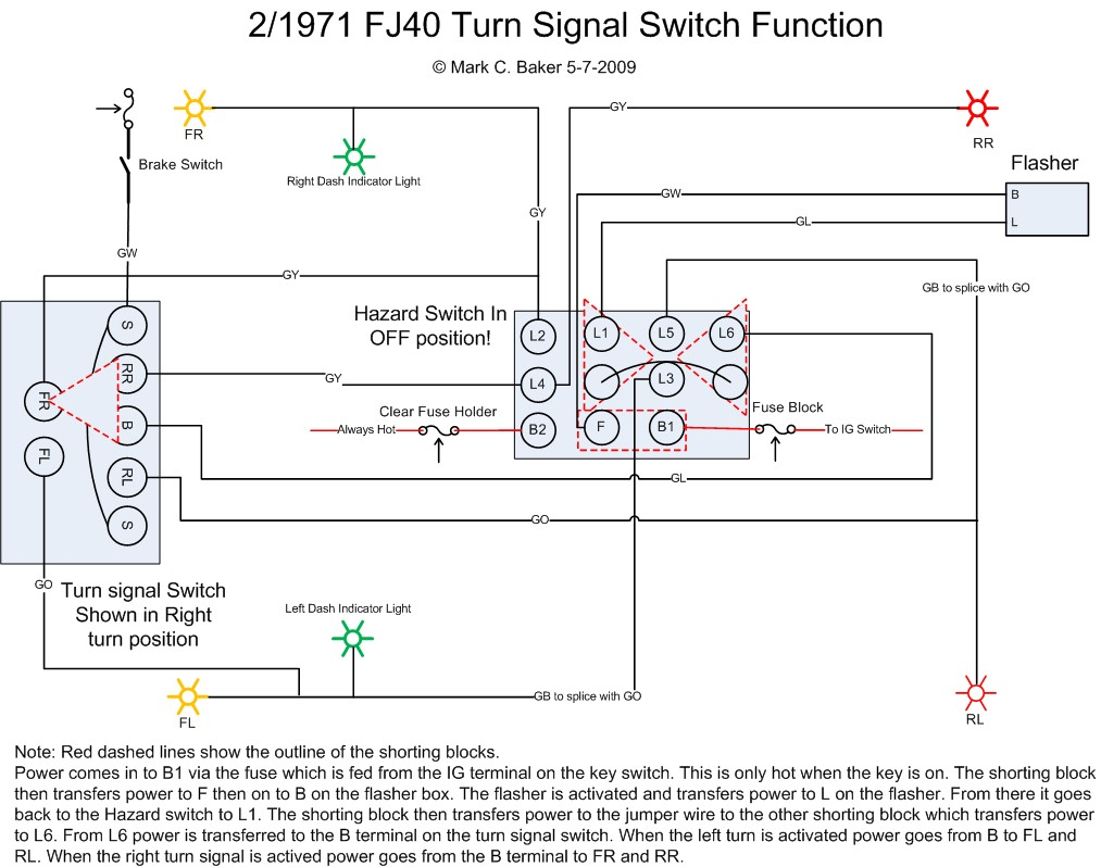 Hazard TurnSignal Operation Best Turn Signal Switch Wiring