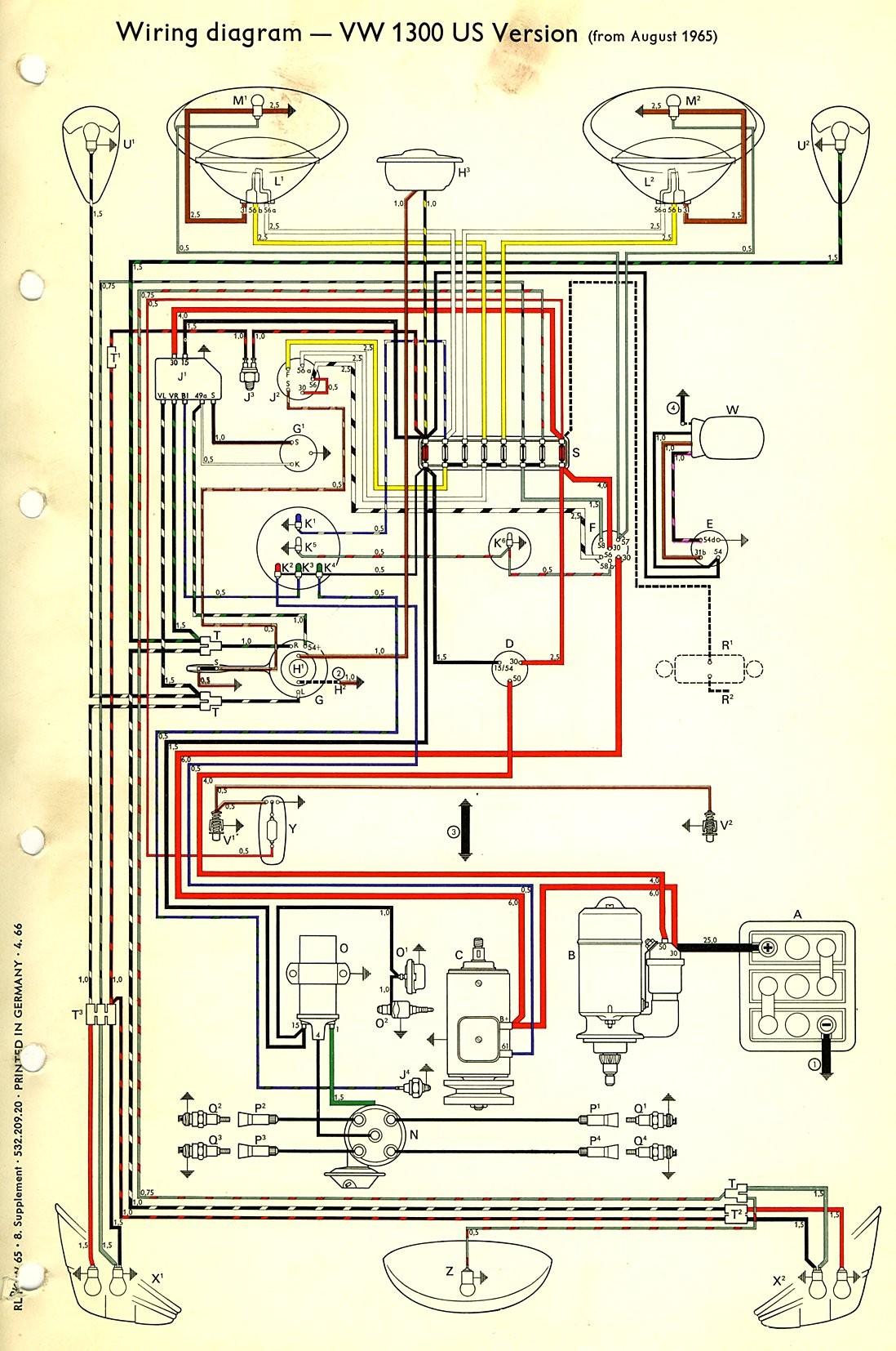 1965 Vw Bus Wiring Diagram Get Free Image About Wiring Diagram