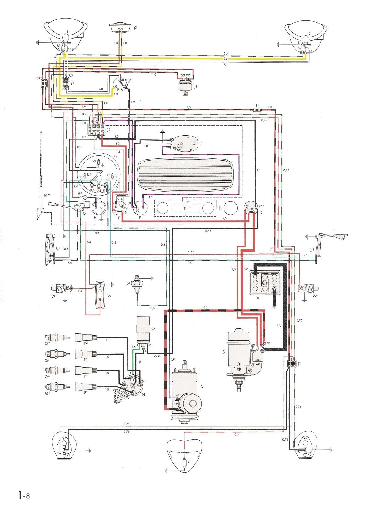 Thesamba Type 1 Wiring Diagrams 1973 Vw Super Beetle Wiring Diagram 8 1973 Vw Super Beetle Wiring Diagram