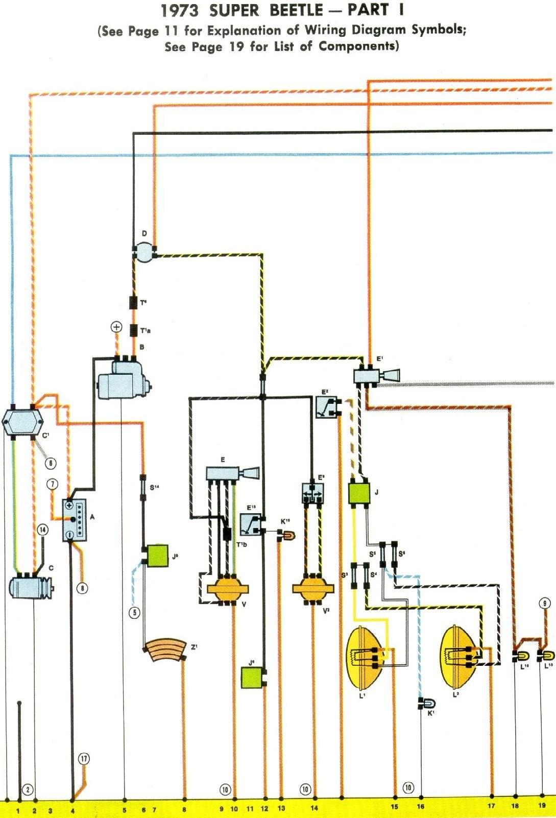 1973 Super Beetle Wiring Diagram Thegoldenbug 1973 Vw Super Beetle Wiring Diagram 1 1973 Vw Super Beetle Wiring Diagram