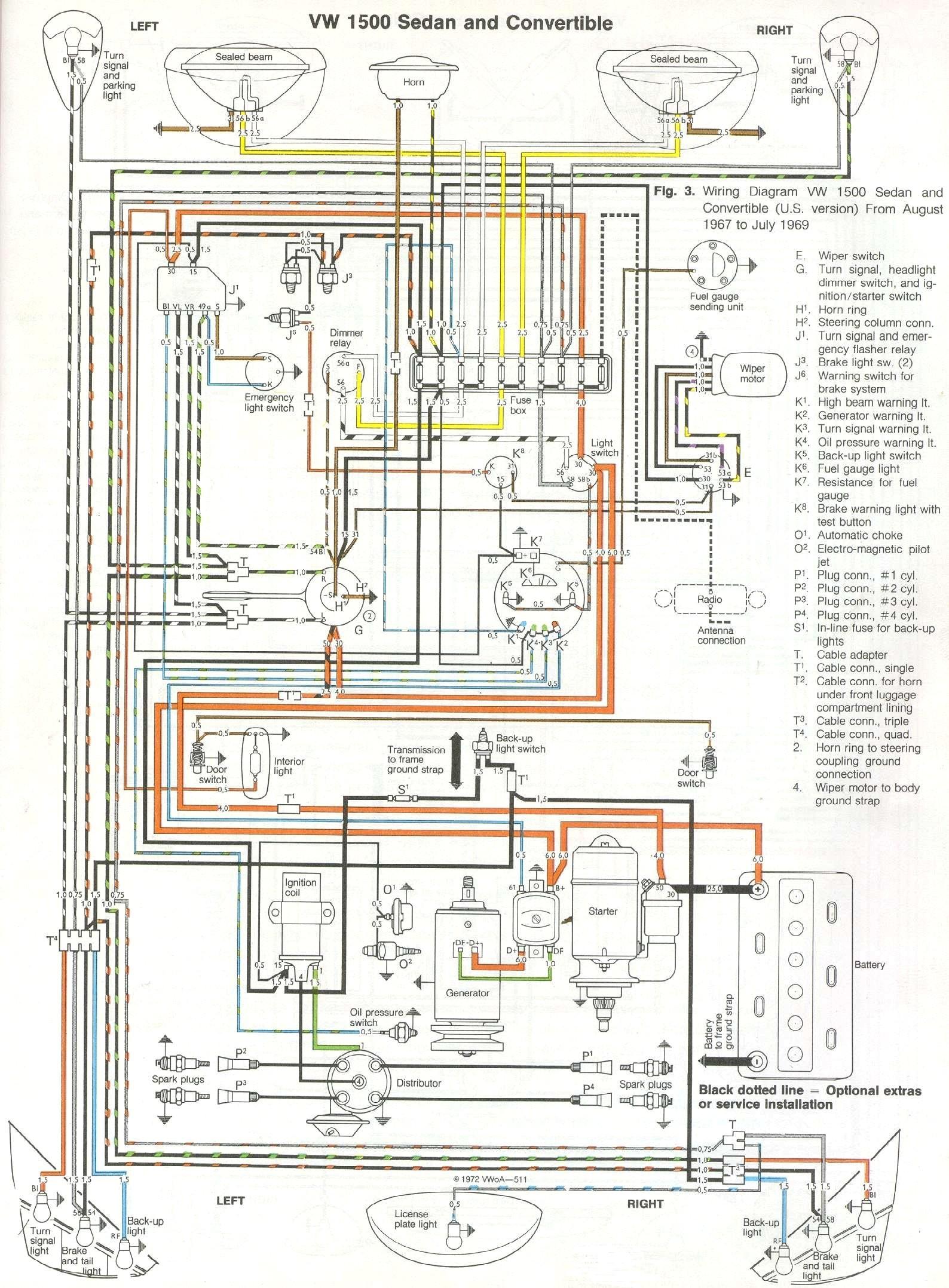 Thesamba Type 1 Wiring Diagrams 1973 Vw Super Beetle Wiring Diagram 2 1973 Vw Super Beetle Wiring Diagram