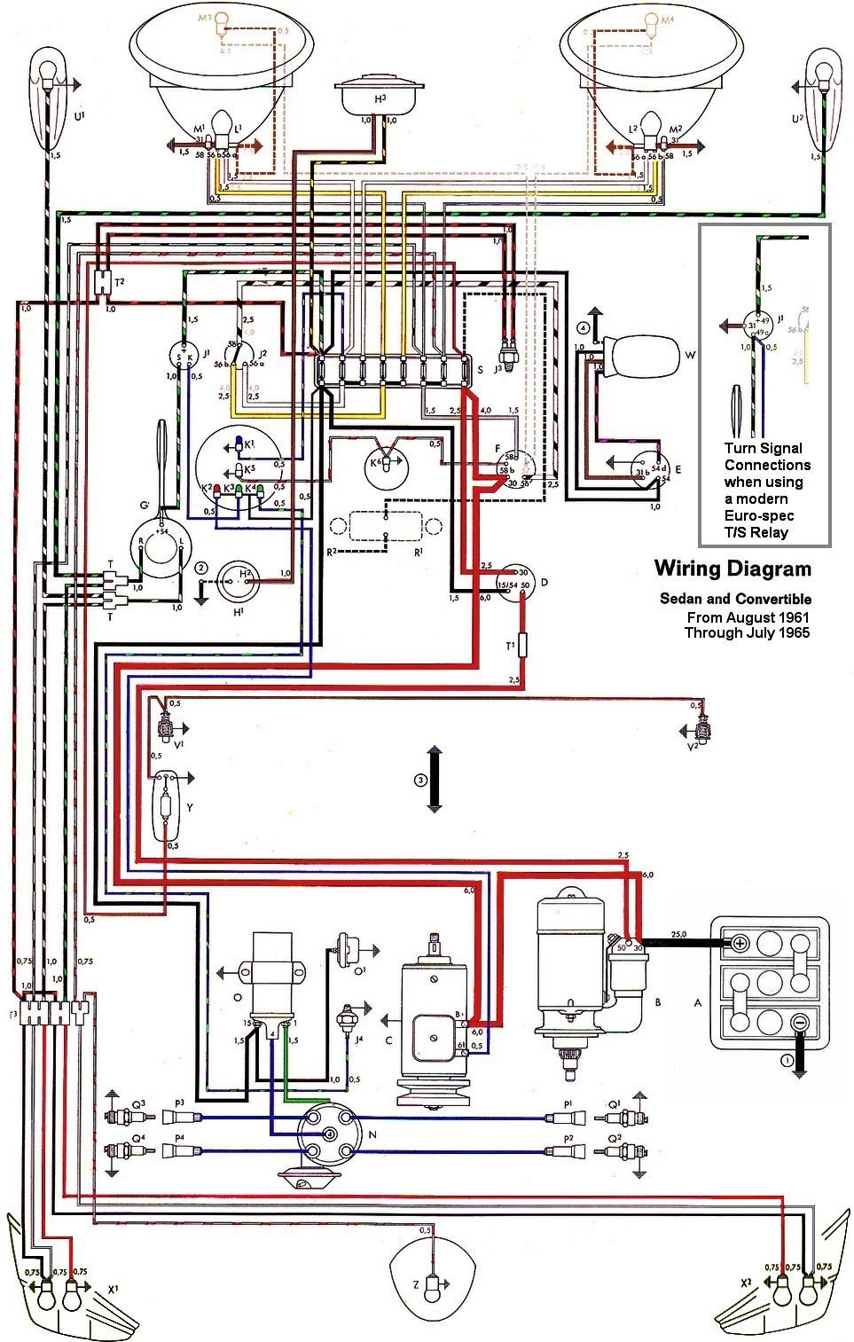 Thesamba Type 1 Wiring Diagrams 1973 Vw Super Beetle Wiring Diagram 4 1973 Vw Super Beetle Wiring Diagram