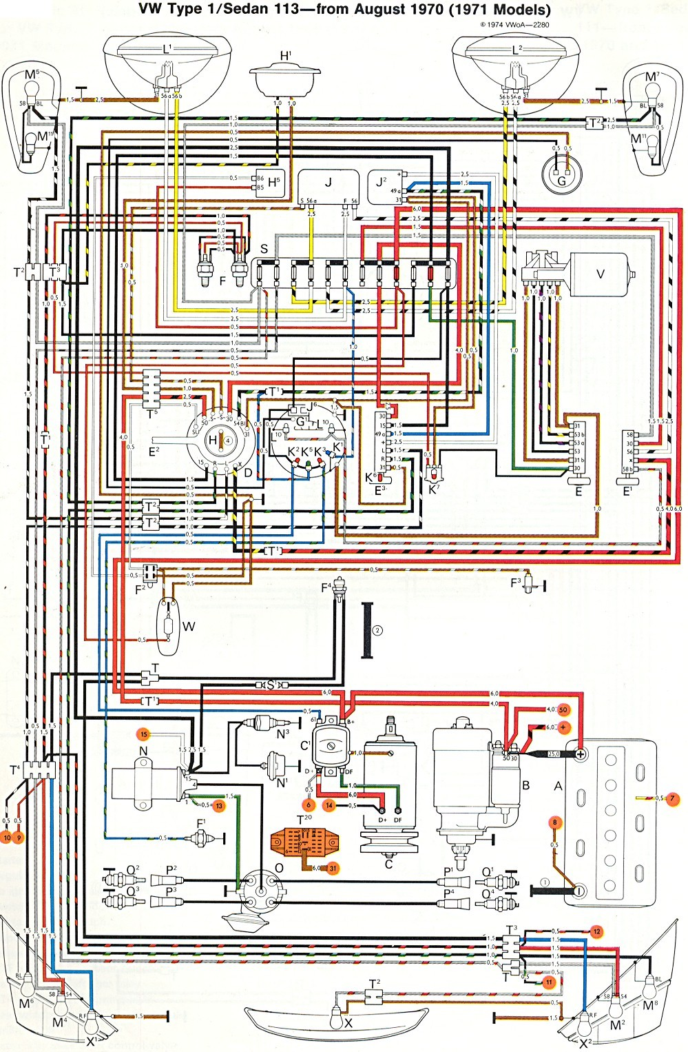 ... vw wiring diagram wiring diagram image rh mainetreasurechest com 1973 VW  Beetle Engine Diagram 1972 VW