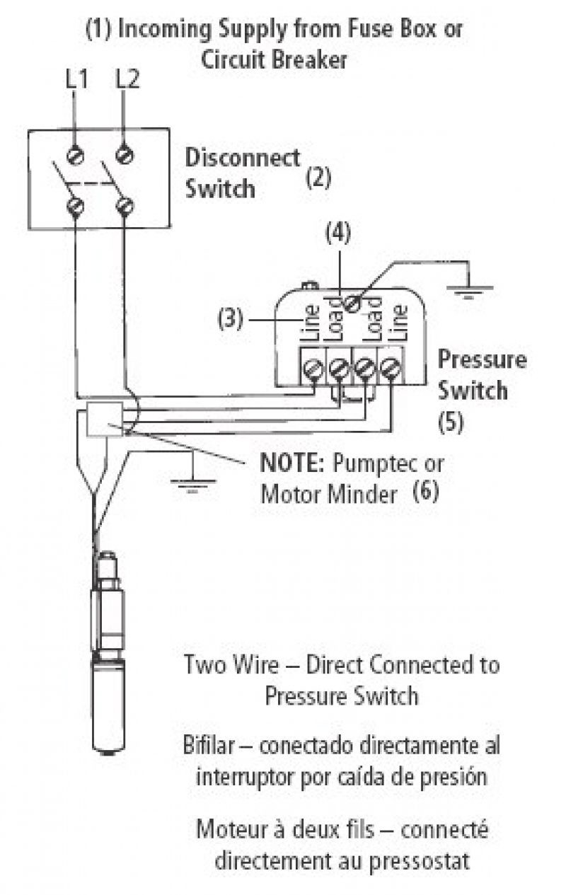 Wire Well Pumpring Diagram Pressure Switch Square Best 4 Pump Wiring Diagnoses 3 Submersible