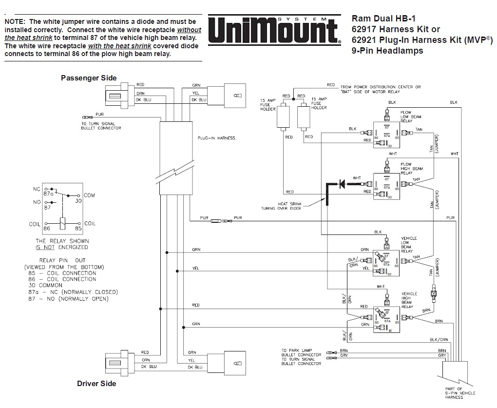Curtis Snow Plow Wiring Diagram Pro Free And Western Relay Download Throughout Installation Manual