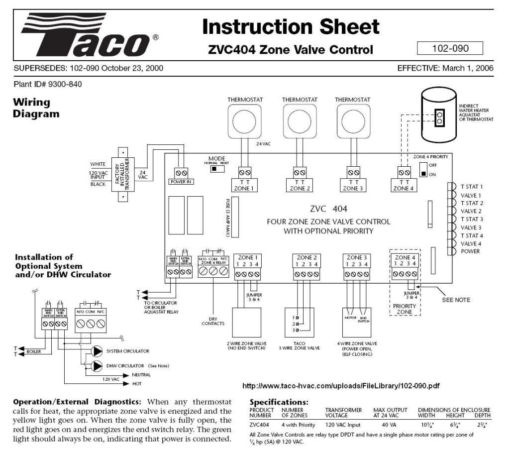 Taco 571 Zone Valve Wiring Diagram For