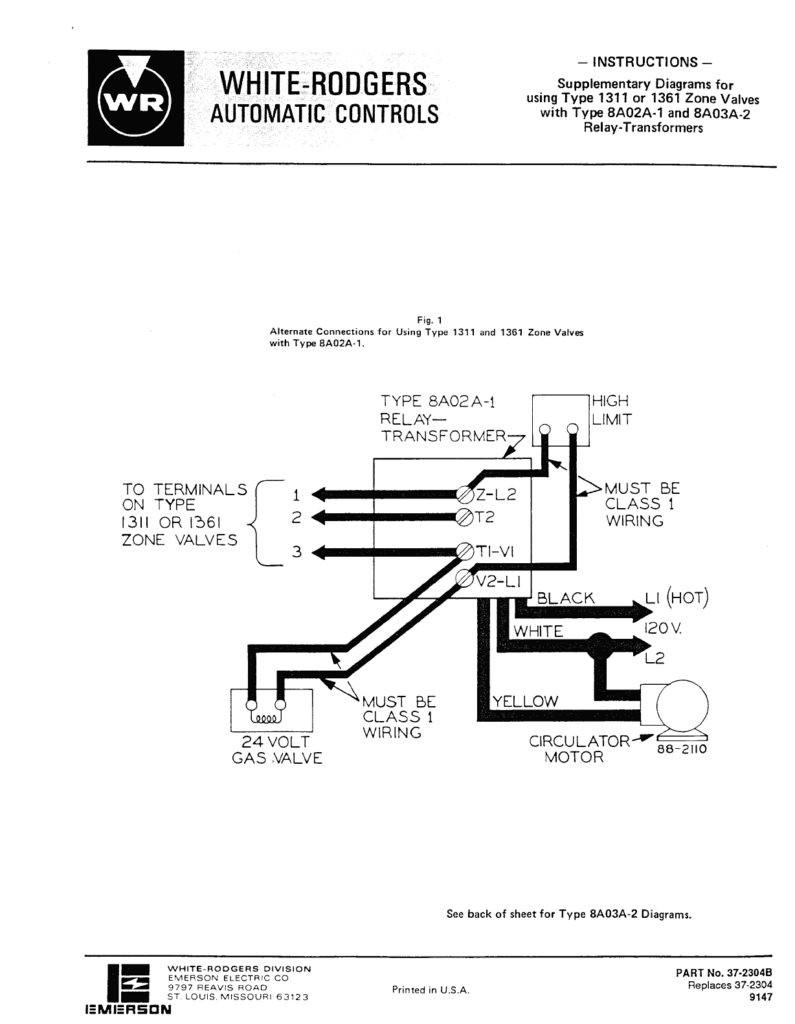 White Rodgers 1361 Wiring Diagram 0 Wiring Diagram