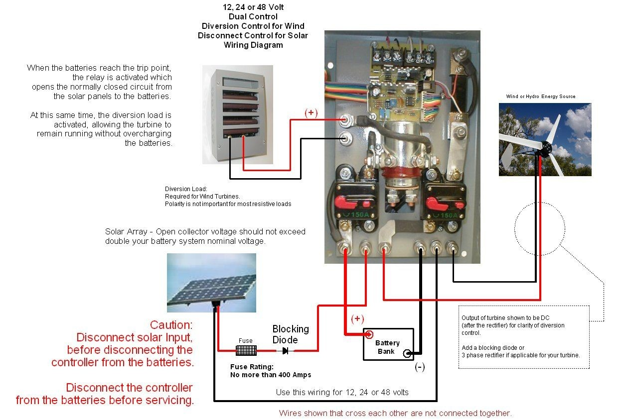 Wind Turbine Charge Controller Circuit Diagram Wiring Image Generator Wire Coleman Air 440a 12 24 48v Solar Diversion With V A Meter C440 Hva
