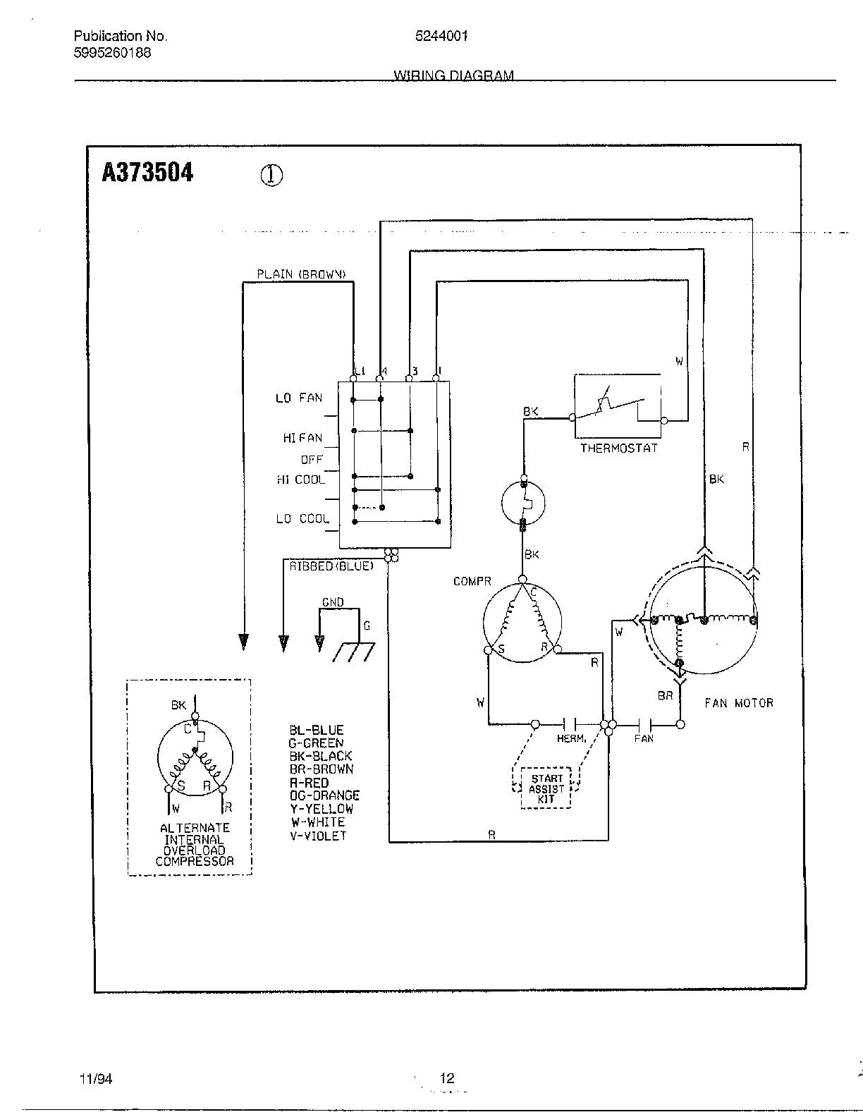 Wiring Diagram Window Type Air Conditioner B2network