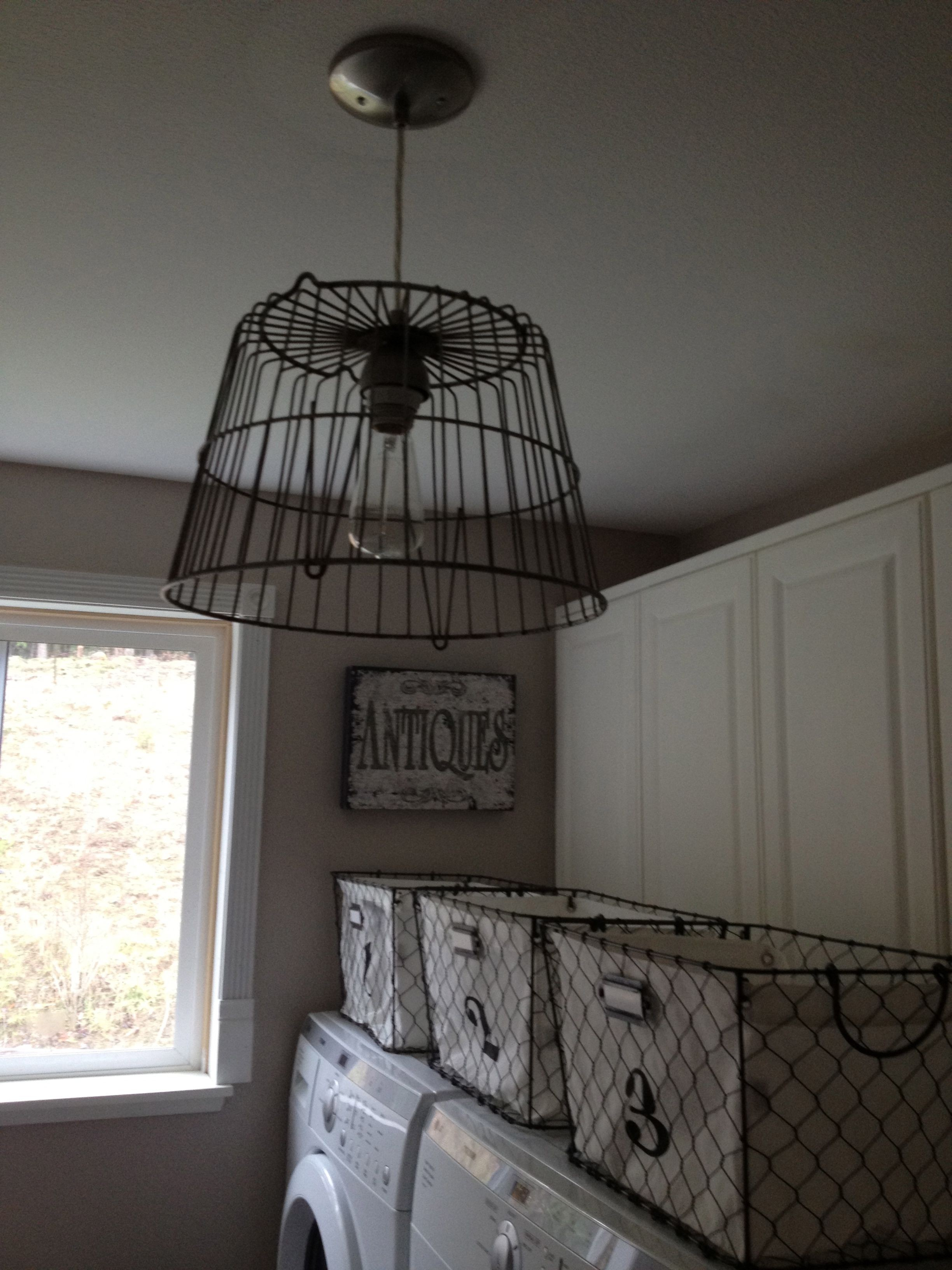 Attractive Chicken Wire Pendant Light Photo - Everything You Need to ...