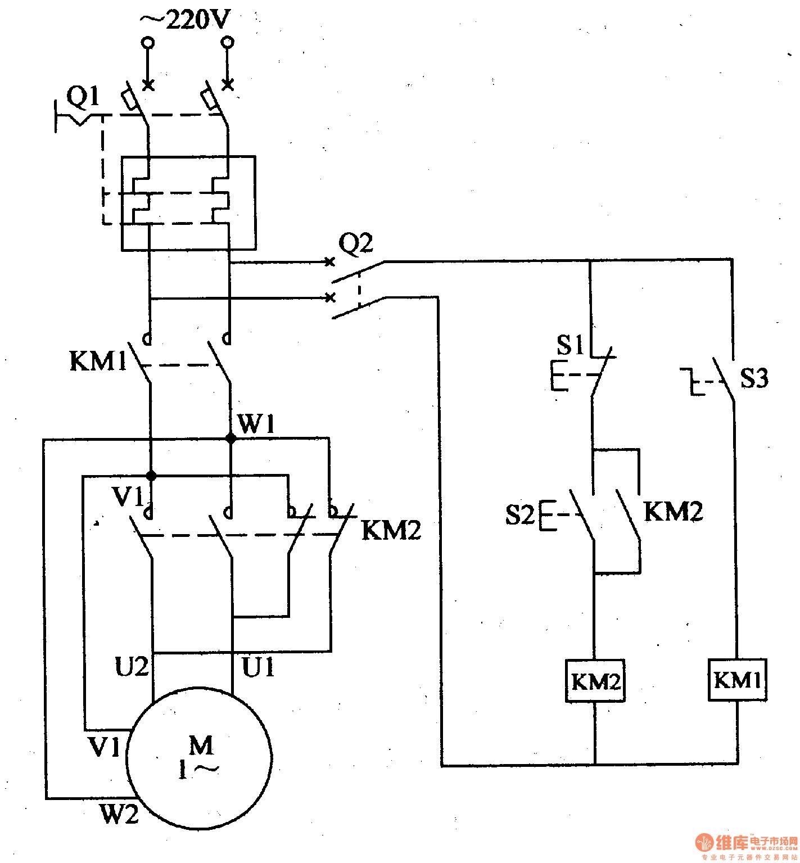 single phase forward reverse starter circuit diagram motor rh teenwolfonline org