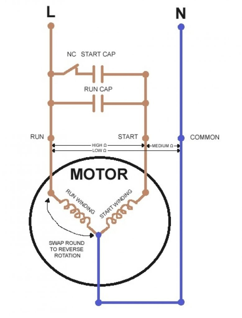 Single Phase Motor With Capacitor Forward And Reverse Wiring
