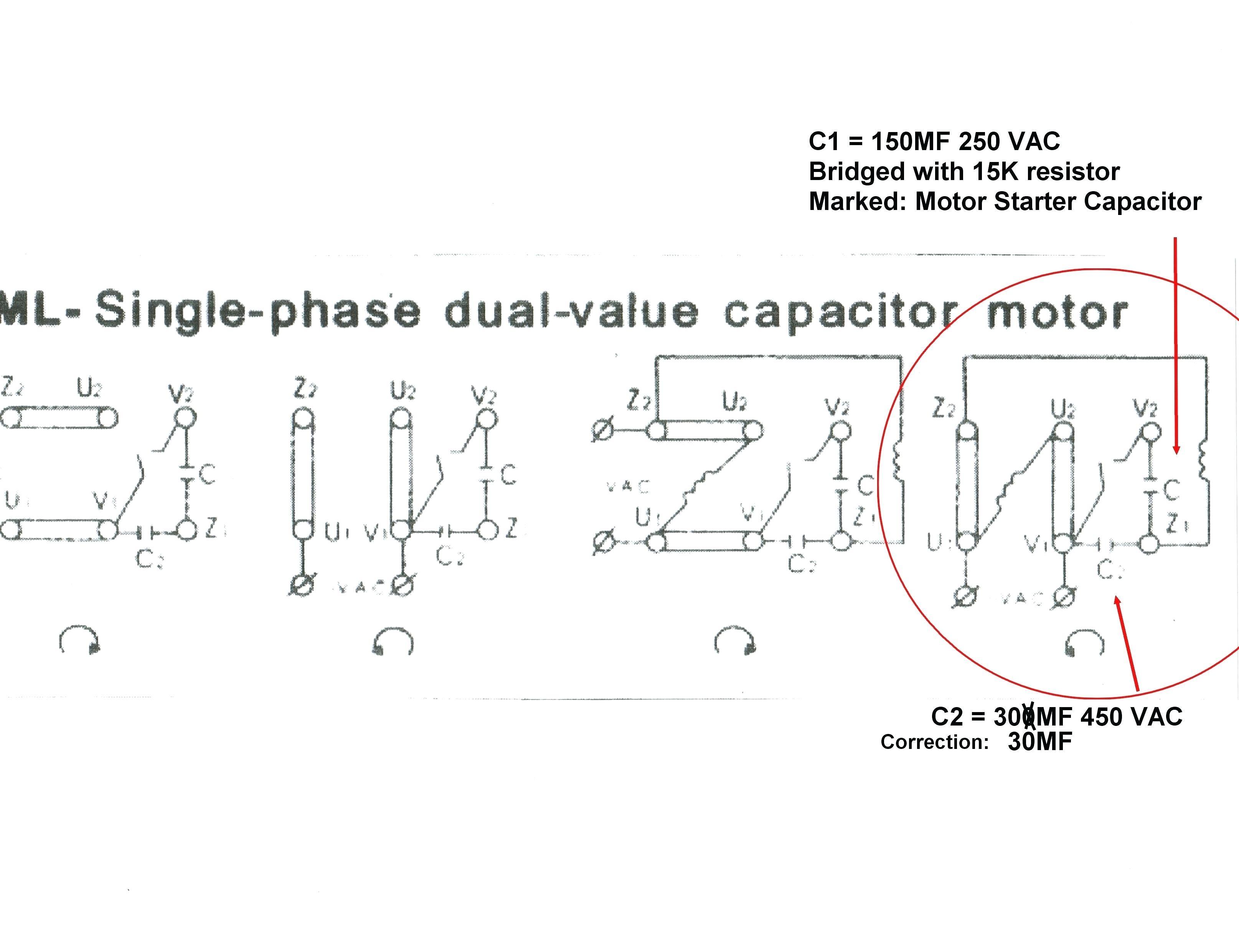 Motor Wiring Diagram Baldor Single Phase
