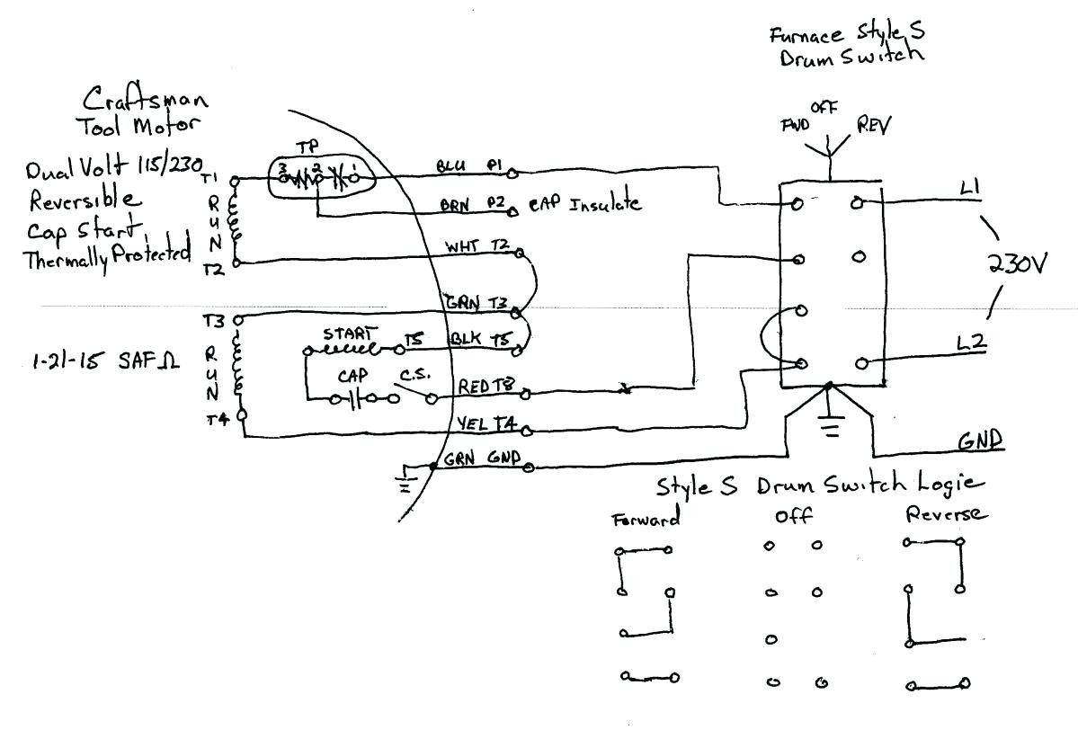 230v 1 Phase Wiring Diagram Manual Of Air Compressor Single Circuit