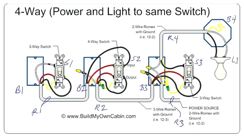4 Gang 1 Way Switch Wiring Diagram - Wiring Diagram And ...  Gang Way Switch Wiring Diagram on