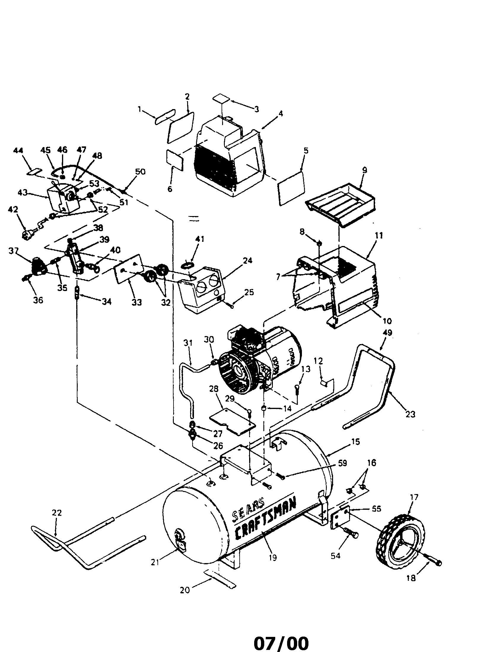919 craftsman pressor parts