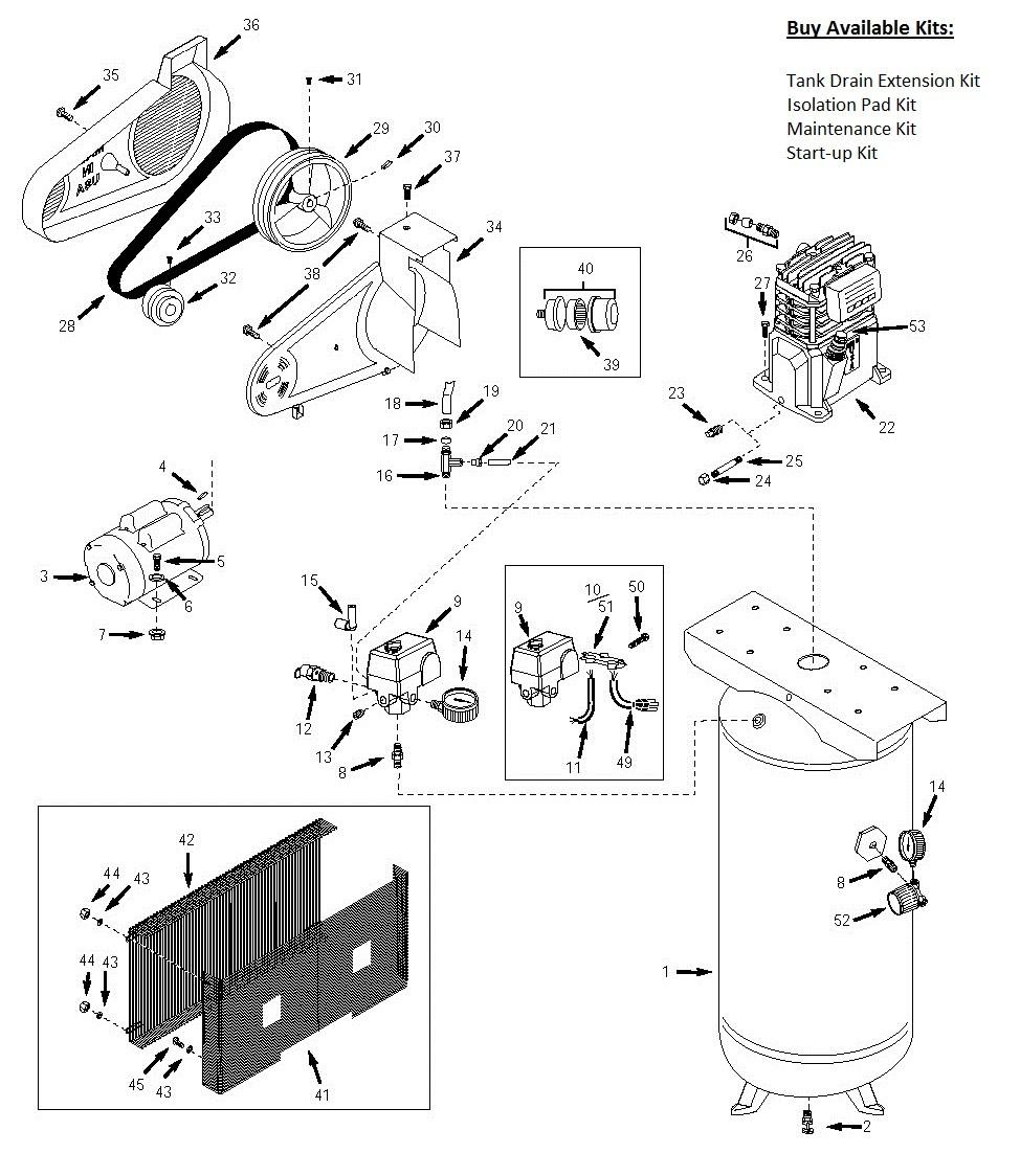 VT6314 VT6314HDRB VT AJ Air pressor Parts schematic