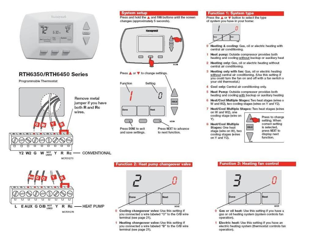 Honeywell Rth6350 Thermostating In Hunter Diagram Air Conditioner Great Hunter Thermostat Wiring