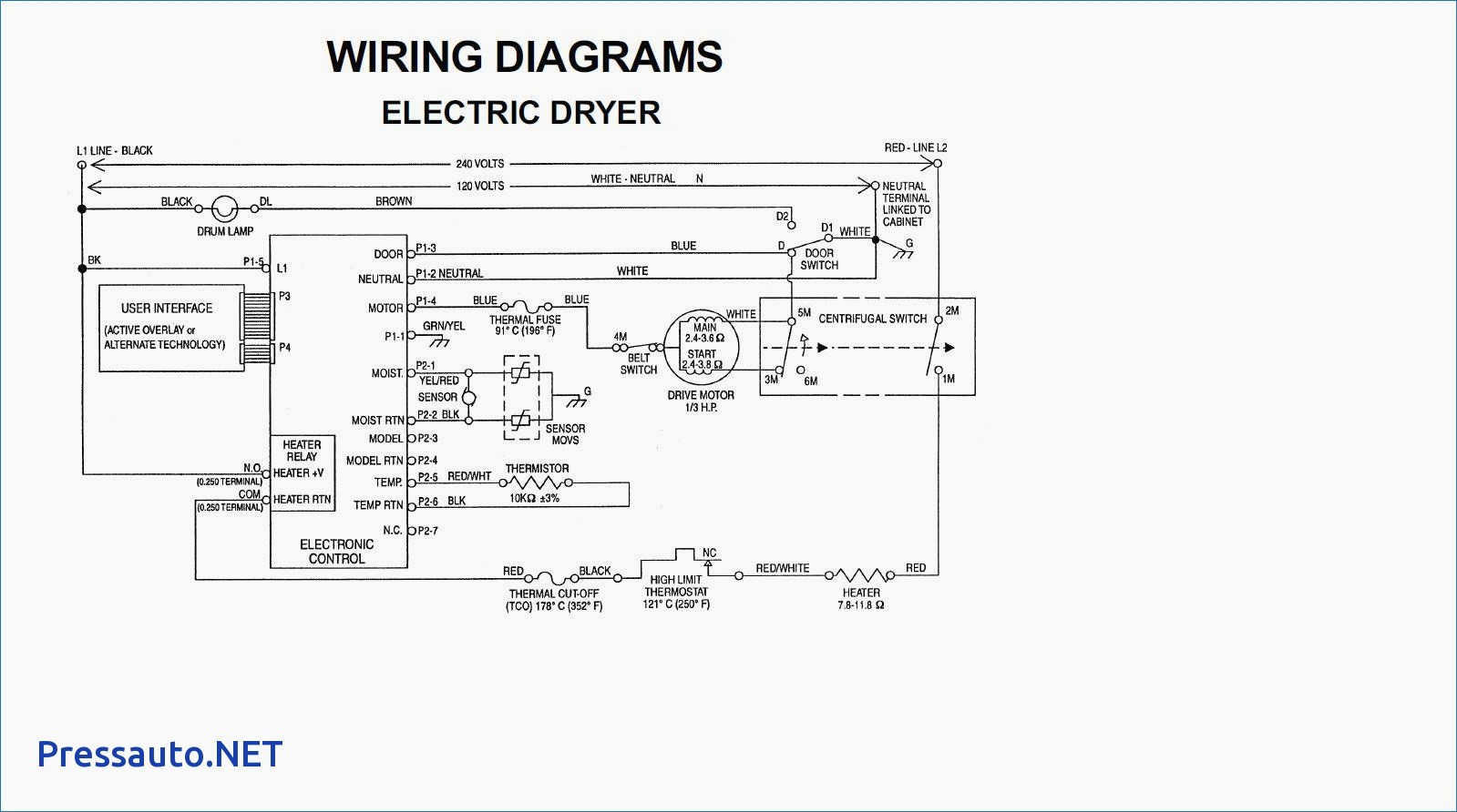 Wiring Diagram for Whirlpool Dryer Heating Element Wiring Diagram