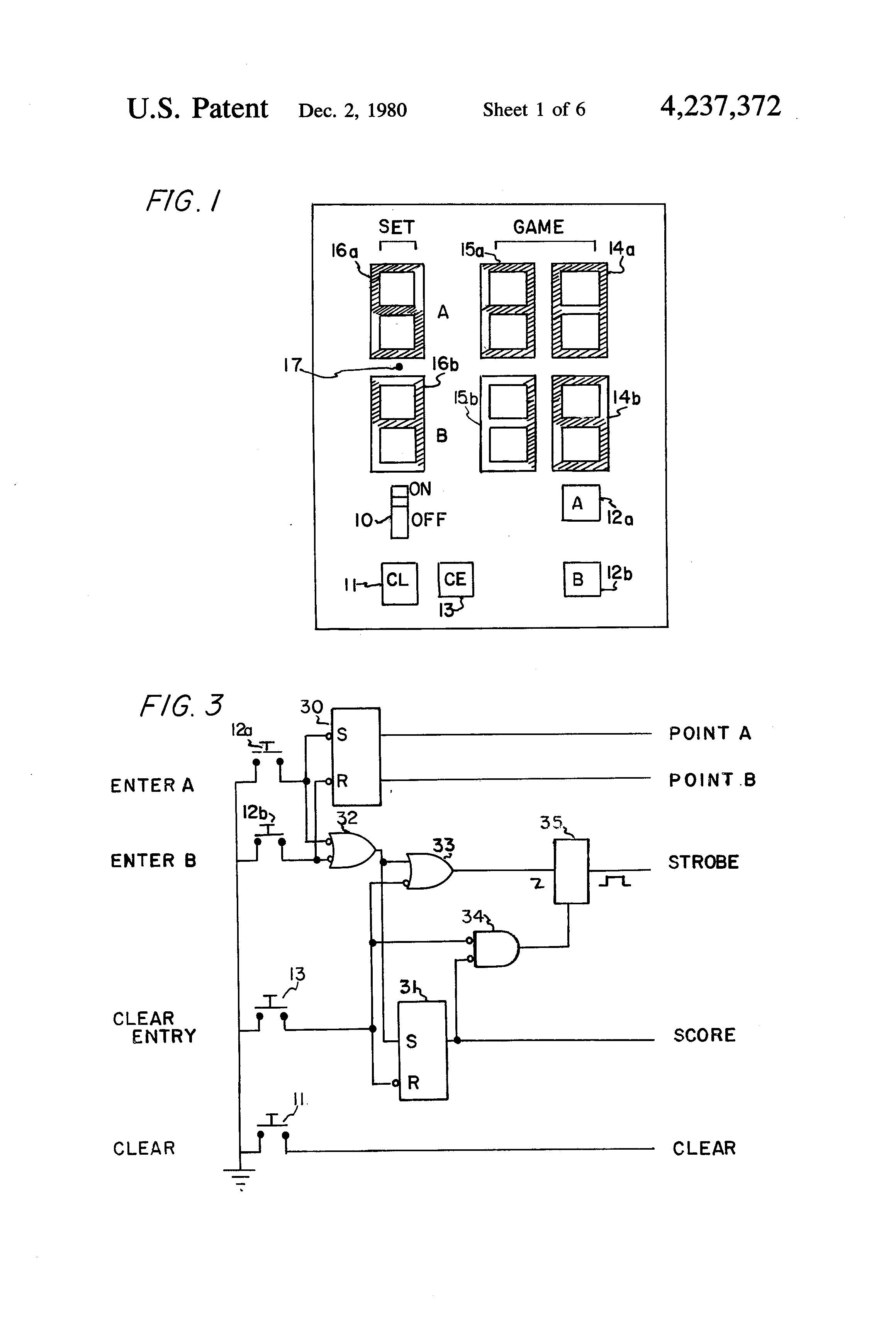 ponent Circuit Diagram Logic Gates Xor Gate Patent Us Scorekeeping Device For Tennis And Similar