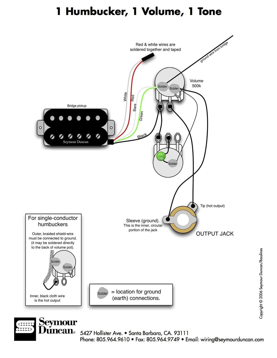 Single Humbucker Guitar Wiring Diagrams Wiring Diagrams Schematics