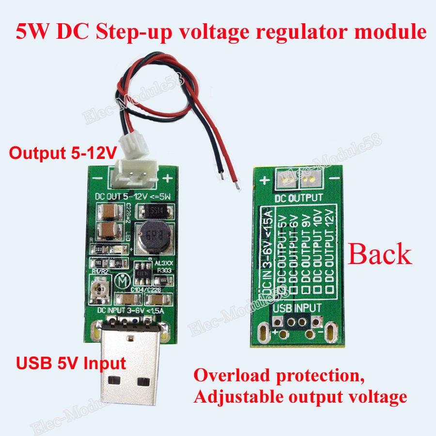 DC DC Step up Converter USB 5V to 6V 12V 9V Adjustable Boost Voltage Regulator