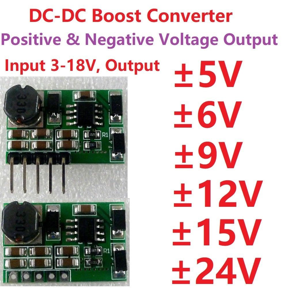 3 7V 5V 6V 9V 12V to 15V 15V DC DC Converter Step up Boost Dual Voltage Power