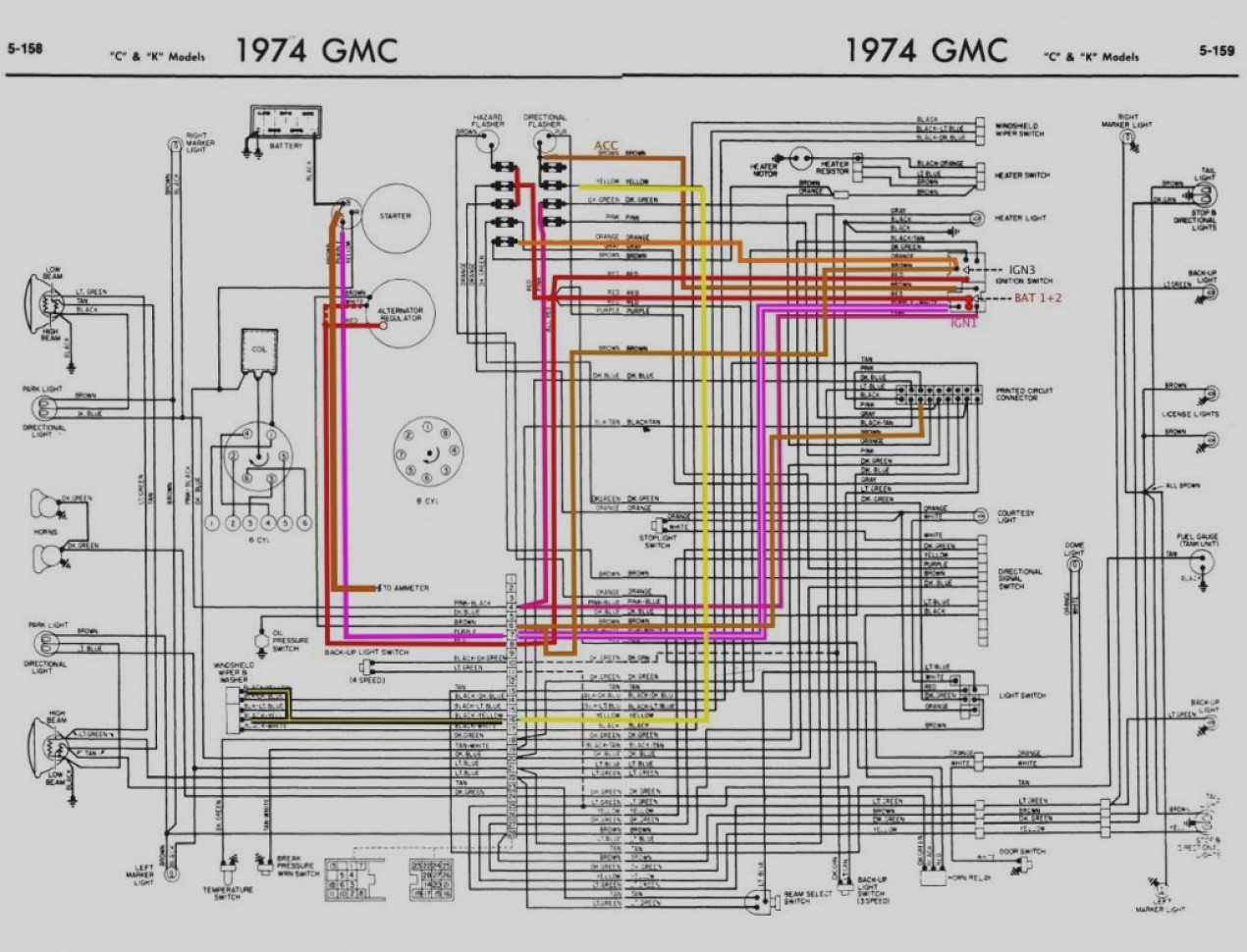 1974 74 corvette wiring diagram manual ebay wire center u2022 rh  pepsicolive co K-5 Fuse Box Location 1978 GMC Van Fuse Box
