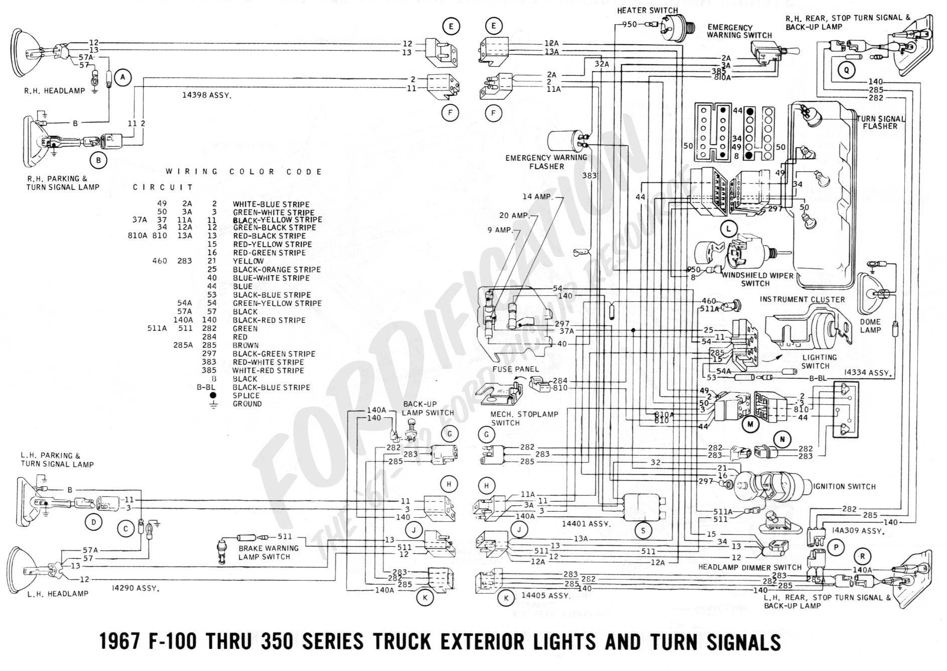 1970 ford mustang wire diagram color
