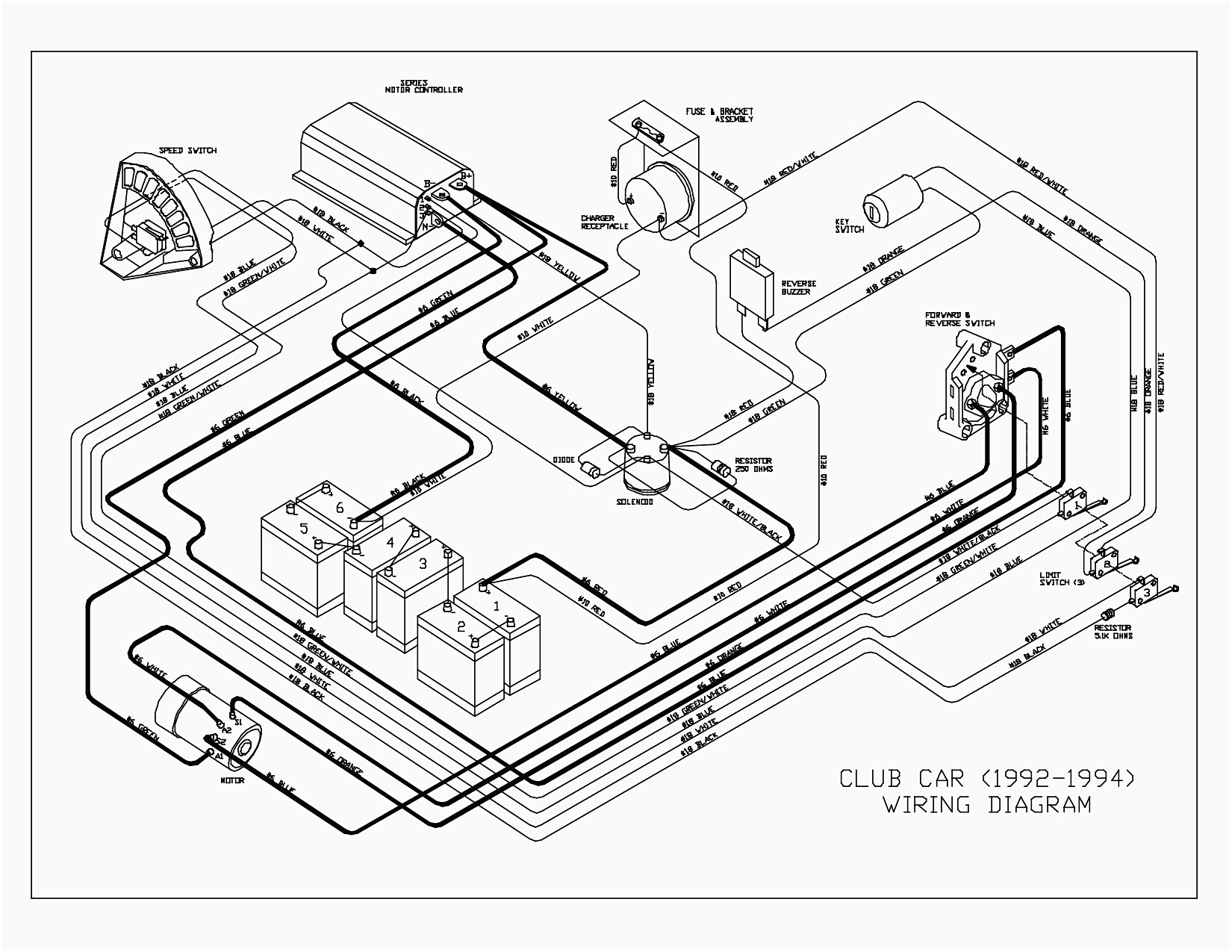 1994 club car wiring diagram wiring diagram image rh mainetreasurechest com 1991 Club Car Wiring Diagram 1985 Club Car Wiring Diagram