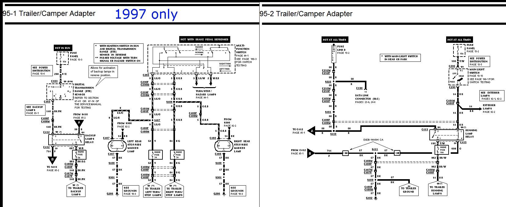 1997 ford f150 wiring diagram wiring diagram image rh mainetreasurechest  com 1997 ford f150 radio wiring diagram 1997 ford f150 electrical diagram