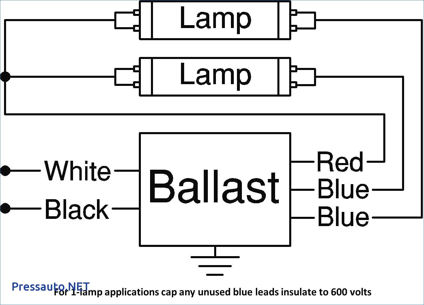 2 lamp ballast wiring diagram unique wiring diagram image rh mainetreasurechest com General Electric Ballast Wiring Diagram Universal Ballast Wiring Diagrams