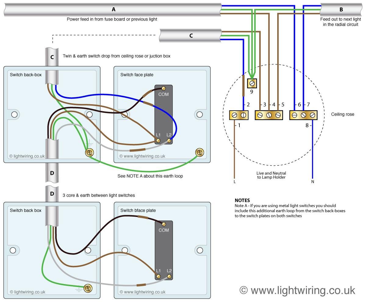 Light Switch 2 Way Wiring Diagram