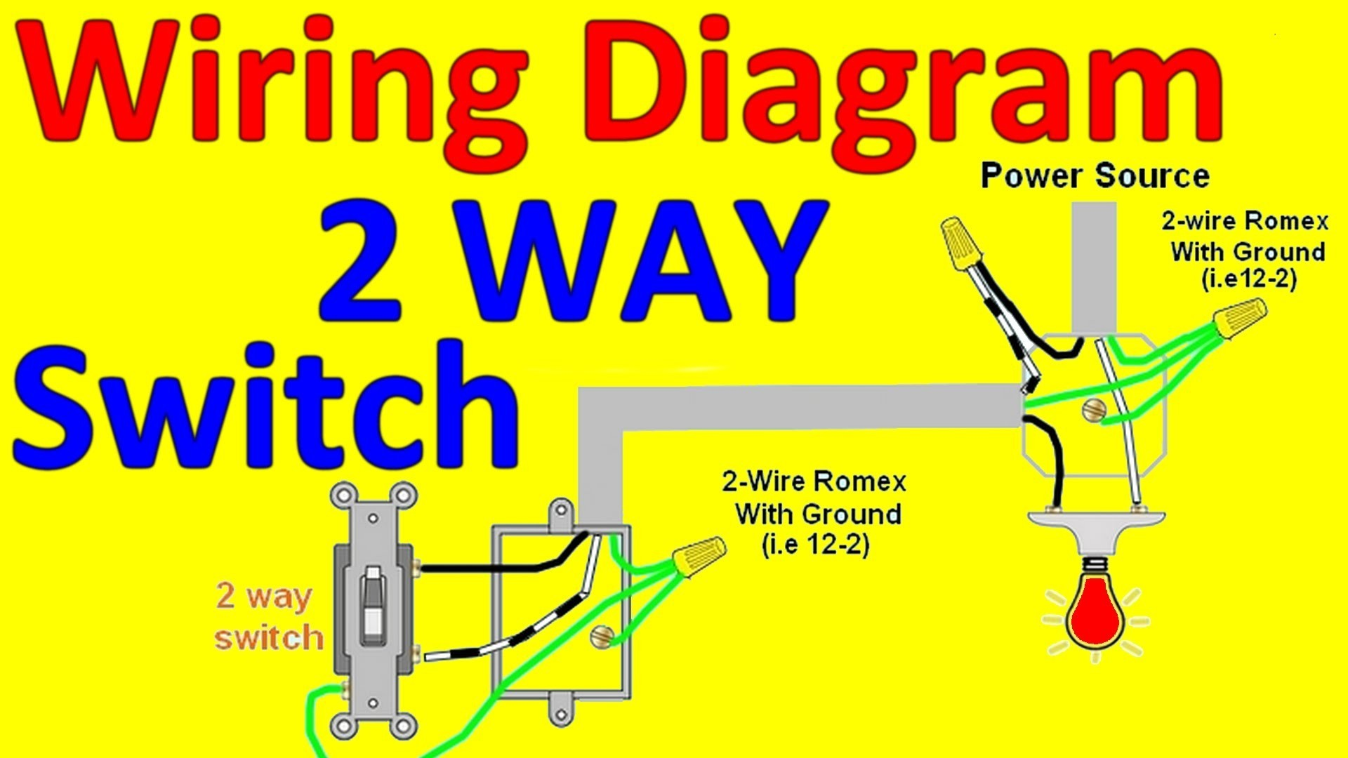 Wiring Diagram For Light With Two Switches Refrence 2 Way Light Switch Wiring Diagrams