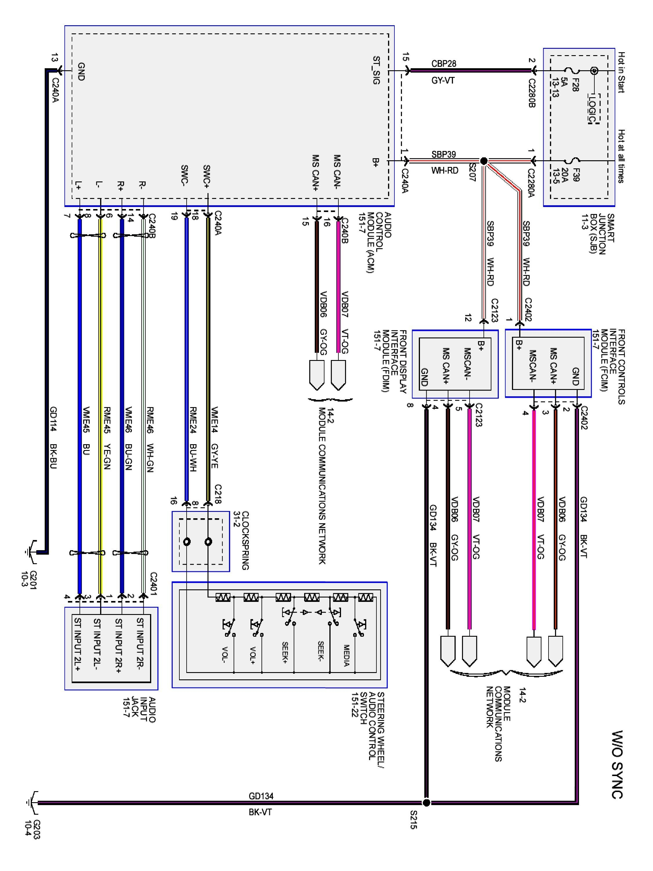 2000 Ford Expedition Stereo Wiring Diagram - Wiring Data