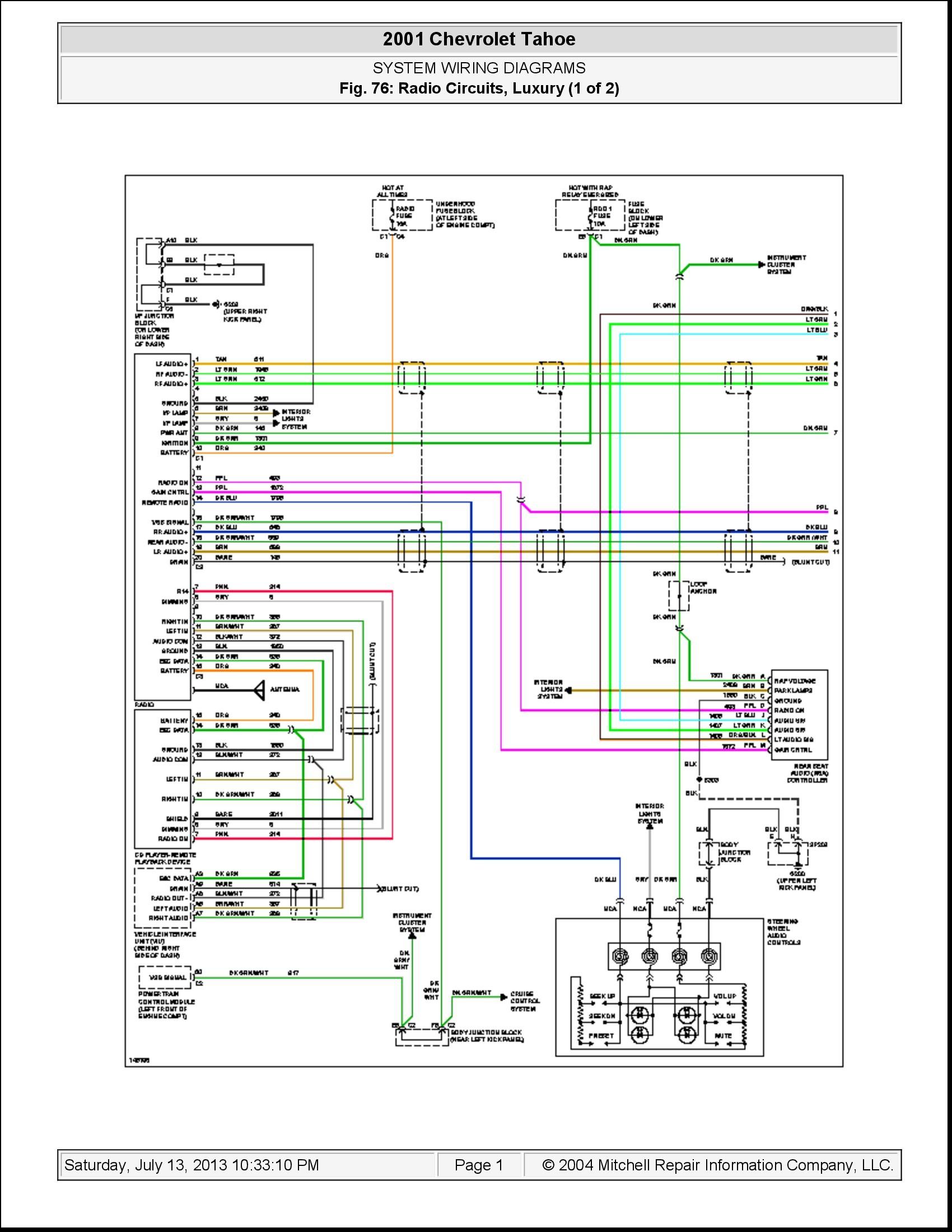 Tahoe Stereo Wiring Diagramstereo Diagram Database Chevrolet Trailblazer Chevy Suburban Radio Wir Full