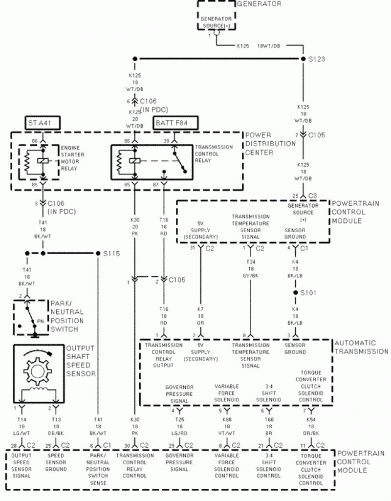 2003 dodge caravan wiring diagram