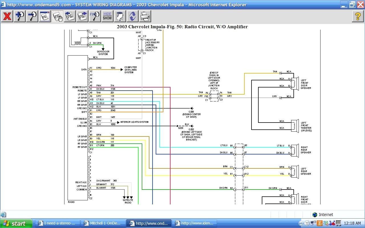 Excellent 2003 Silverado Radio Wiring Diagram Electrical
