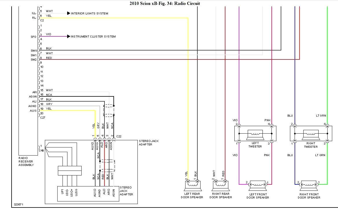 2006 scion xb fuse box diagram wiring diagram image rh mainetreasurechest com 2006 Scion xB Fog Lights 2008 Scion xB Engine Diagram